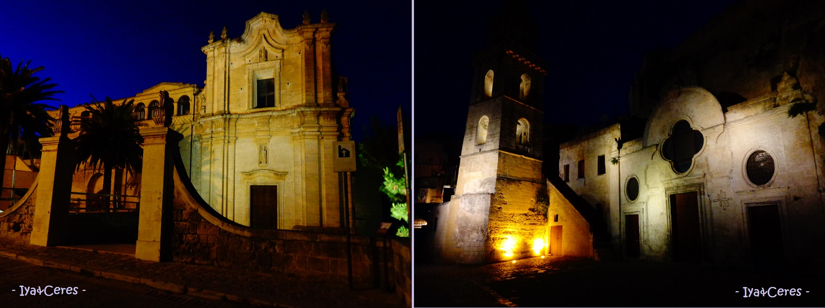 Scatti notturni a Matera